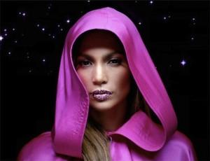 Jennifer Lopez with a fabulous rhinestone lip!!